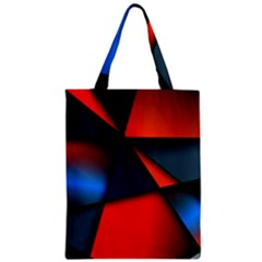 3d And Abstract Zipper Classic Tote Bag
