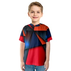 3d And Abstract Kids  Sport Mesh Tee
