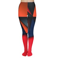 3d And Abstract Women s Tights