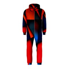 3d And Abstract Hooded Jumpsuit (Kids)