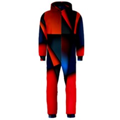 3d And Abstract Hooded Jumpsuit (Men)