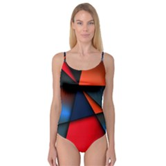 3d And Abstract Camisole Leotard