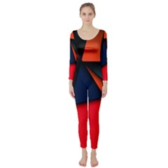 3d And Abstract Long Sleeve Catsuit