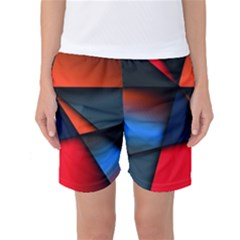 3d And Abstract Women s Basketball Shorts