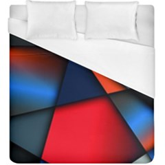 3d And Abstract Duvet Cover (King Size)