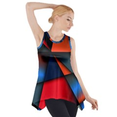 3d And Abstract Side Drop Tank Tunic