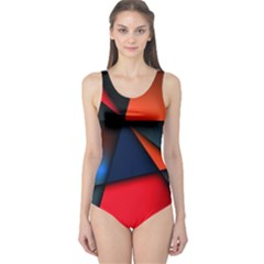 3d And Abstract One Piece Swimsuit