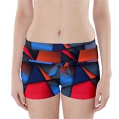 3d And Abstract Boyleg Bikini Wrap Bottoms