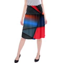 3d And Abstract Midi Beach Skirt
