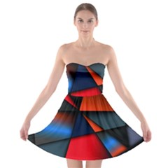 3d And Abstract Strapless Bra Top Dress