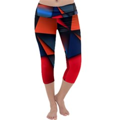 3d And Abstract Capri Yoga Leggings