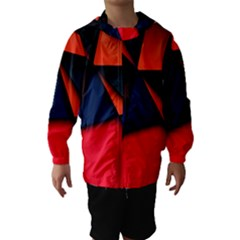 3d And Abstract Hooded Wind Breaker (Kids)