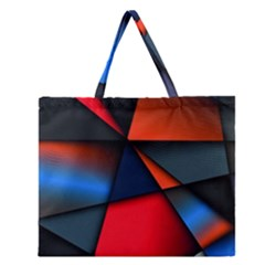 3d And Abstract Zipper Large Tote Bag