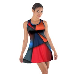 3d And Abstract Cotton Racerback Dress