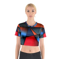 3d And Abstract Cotton Crop Top