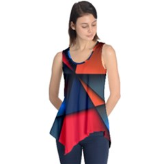 3d And Abstract Sleeveless Tunic