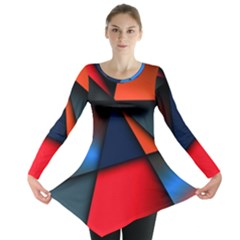 3d And Abstract Long Sleeve Tunic