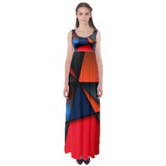 3d And Abstract Empire Waist Maxi Dress