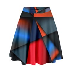 3d And Abstract High Waist Skirt