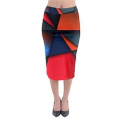 3d And Abstract Midi Pencil Skirt