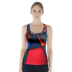 3d And Abstract Racer Back Sports Top