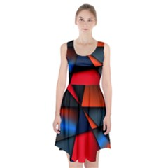 3d And Abstract Racerback Midi Dress
