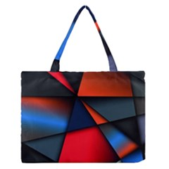 3d And Abstract Medium Zipper Tote Bag