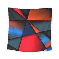 3d And Abstract Square Tapestry (small)
