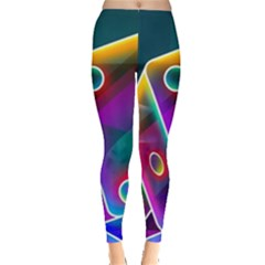 3d Cube Dice Neon Leggings