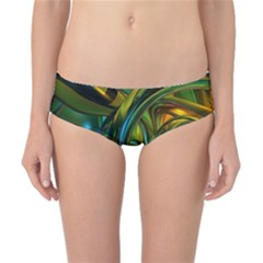 3d Transparent Glass Shapes Mixture Of Dark Yellow Green Glass Mixture Artistic Glassworks Classic Bikini Bottoms