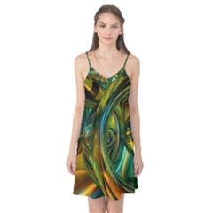 3d Transparent Glass Shapes Mixture Of Dark Yellow Green Glass Mixture Artistic Glassworks Camis Nightgown