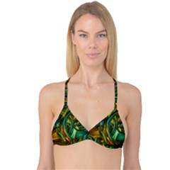 3d Transparent Glass Shapes Mixture Of Dark Yellow Green Glass Mixture Artistic Glassworks Reversible Tri Bikini Top
