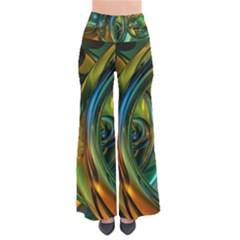 3d Transparent Glass Shapes Mixture Of Dark Yellow Green Glass Mixture Artistic Glassworks Pants