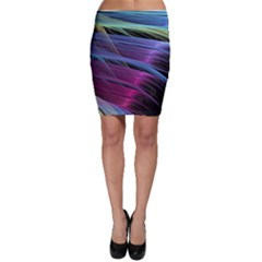 Abstract Satin Bodycon Skirt