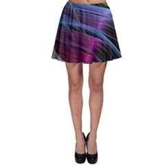 Abstract Satin Skater Skirt