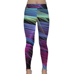 Abstract Satin Classic Yoga Leggings