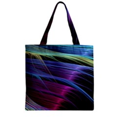 Abstract Satin Zipper Grocery Tote Bag