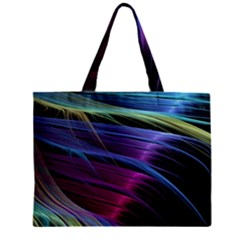 Abstract Satin Zipper Mini Tote Bag