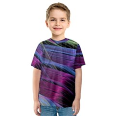 Abstract Satin Kids  Sport Mesh Tee