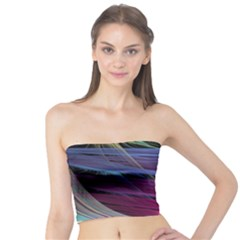 Abstract Satin Tube Top