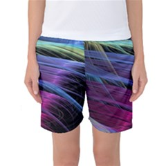Abstract Satin Women s Basketball Shorts