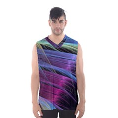 Abstract Satin Men s Basketball Tank Top