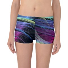 Abstract Satin Boyleg Bikini Bottoms