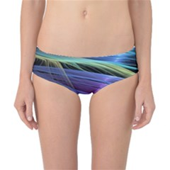 Abstract Satin Classic Bikini Bottoms