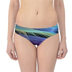 Abstract Satin Hipster Bikini Bottoms