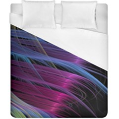 Abstract Satin Duvet Cover (California King Size)