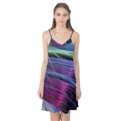 Abstract Satin Camis Nightgown
