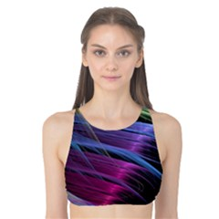 Abstract Satin Tank Bikini Top