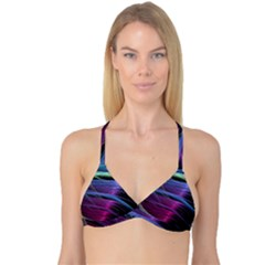 Abstract Satin Reversible Tri Bikini Top