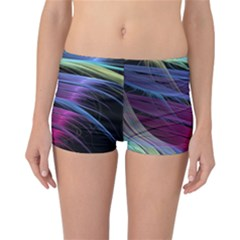 Abstract Satin Reversible Bikini Bottoms